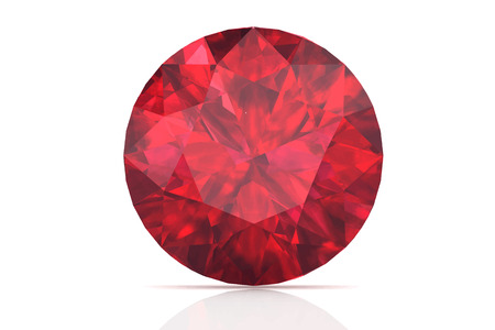 ruby on white background.Vector illustration. Stock Illustratie