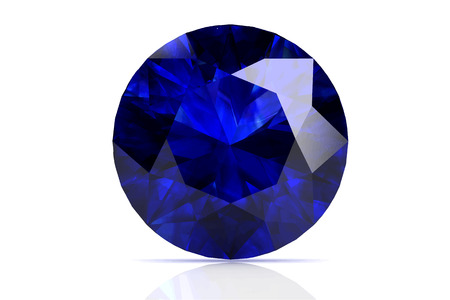 blue sapphire on white background.Vector illustration. Çizim