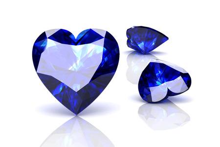 stetting: blue sapphire on white background.Vector illustration. Illustration