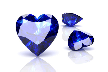 zafiro: zafiro azul en blanco background.Vector ilustraci�n.