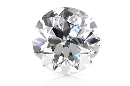 Diamond on white background .Vector illustration.