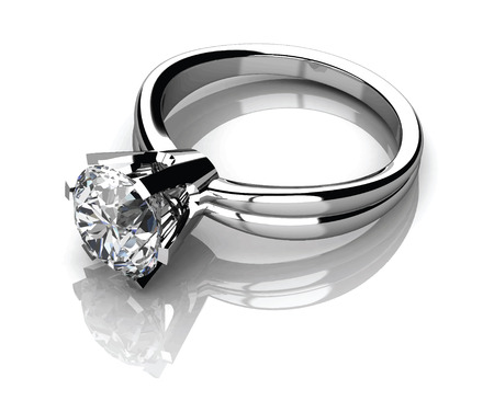 wedding accessories: The beauty wedding ring.Vector illustration.