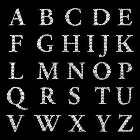 lettres alphabet: Alphabet Diamond, lettres de A à Z, Banque d'images