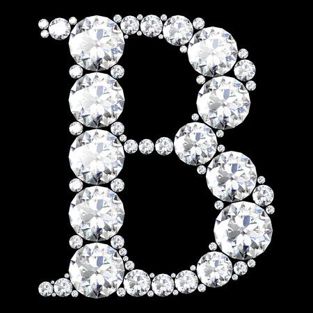 A stunning beautiful B set in diamonds