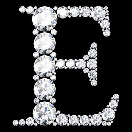 stunning: A stunning beautiful E set in diamonds Illustration