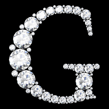 diamond letter: A stunning beautiful G set in diamonds