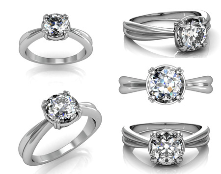 rings: Set Of Wedding Ring with Diamond. Fashion Jewelry background