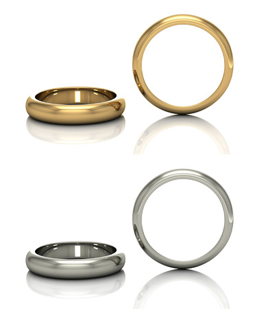 Set of rings. Best wedding and engagement ring 스톡 콘텐츠