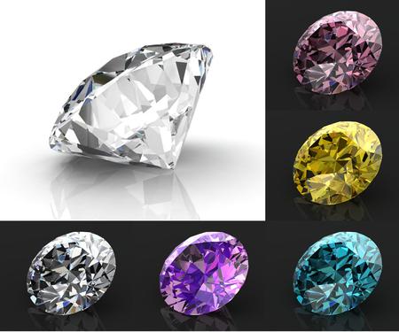 carats: diamond set (high resolution 3D image)