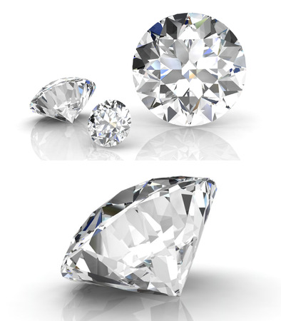 diamant set (hoge resolutie 3D-beeld) Stockfoto