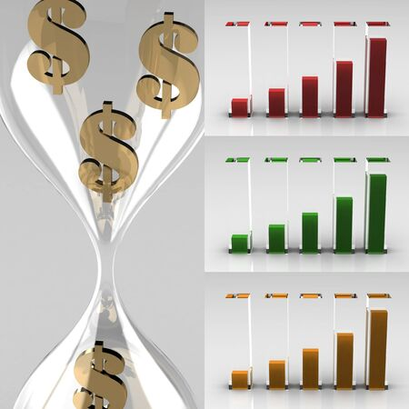 high resolution: growing graph icon (high resolution 3D image) Stock Photo