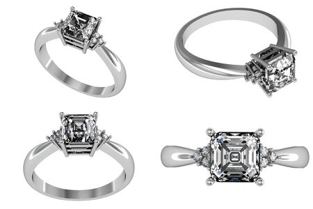 jewelry background: Set Of Wedding Ring with Diamond. Fashion Jewelry background