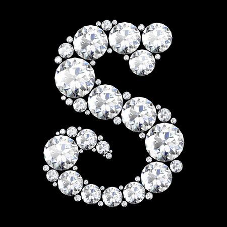 stunning: A stunning beautiful S set in diamonds Illustration