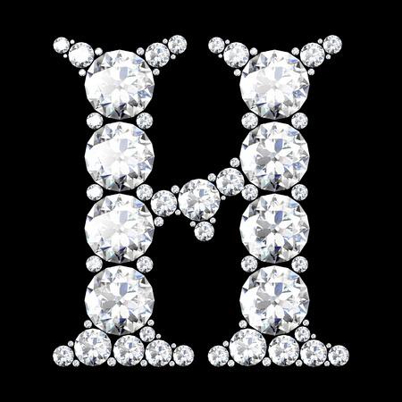 stunning: A stunning beautiful H set in diamonds Illustration