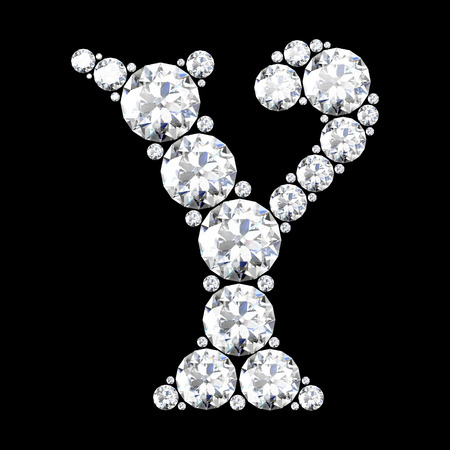 stunning: A stunning beautiful Y set in diamonds Illustration