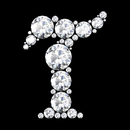 stunning: A stunning beautiful T set in diamonds