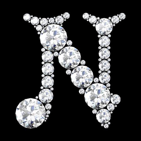 stunning: A stunning beautiful N set in diamonds