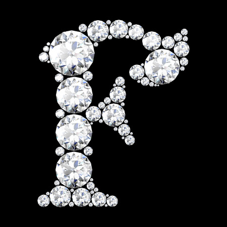 stunning: A stunning beautiful F set in diamonds
