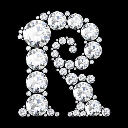 stunning: A stunning beautiful R set in diamonds