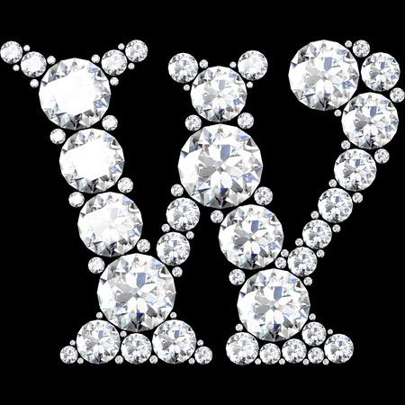 stunning: A stunning beautiful W set in diamonds Illustration