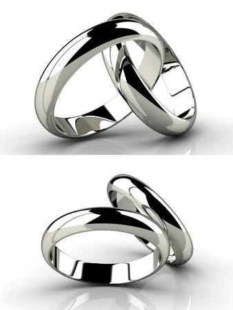 아름다움 결혼 반지입니다. 벡터 일러스트 레이 션.