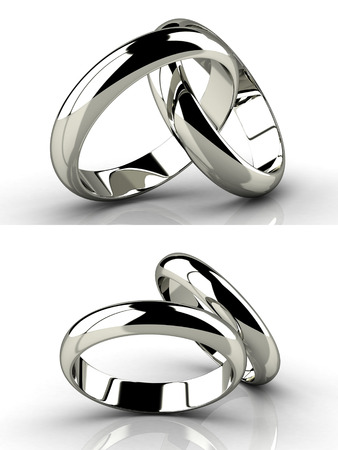 rings: The beauty wedding ring.Vector illustration.
