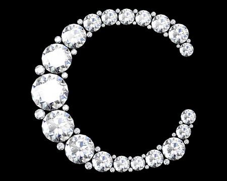 stunning: A stunning beautiful C set in diamonds Stock Photo