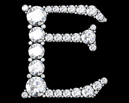 stunning: A stunning beautiful E set in diamonds Stock Photo