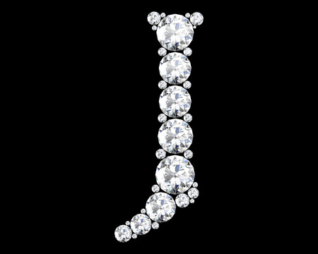 stunning: A stunning beautiful J set in diamonds Stock Photo