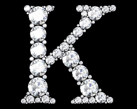 stunning: A stunning beautiful K set in diamonds