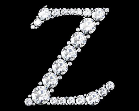 stunning: A stunning beautiful Z set in diamonds