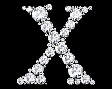 stunning: A stunning beautiful X set in diamonds