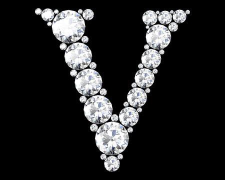 stunning: A stunning beautiful V set in diamonds Stock Photo