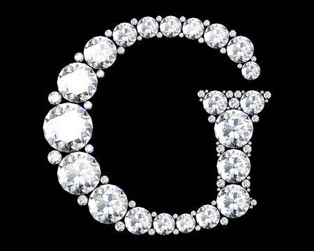 stunning: A stunning beautiful G set in diamonds
