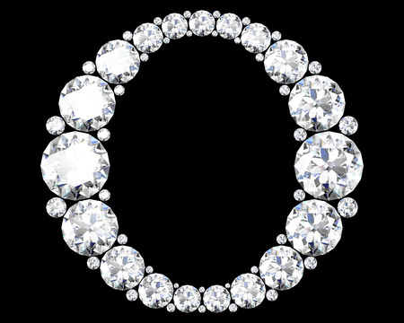 alphabet letters: A stunning beautiful O set in diamonds