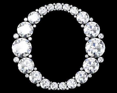 """diamante: Un hermoso impresionante """"O"""" con diamantes"""