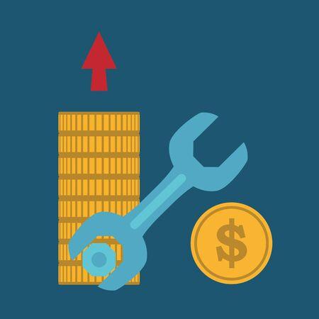 bill of exchange: Make money concept,vector Illustration