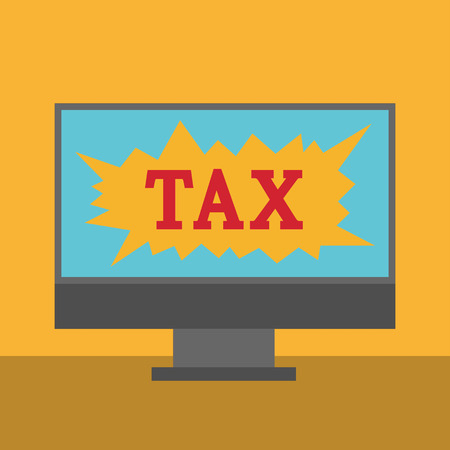 tax policy: Digital Online Tax Payment Policy Office Concept Illustration