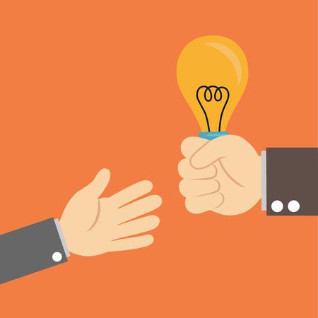sending: sending support light bulb Illustration