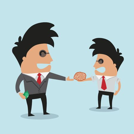 buy sell: Businessmen buying ideas Illustration