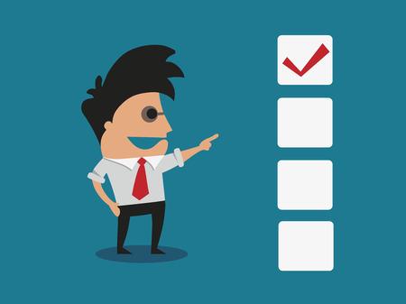 Checkbox concept vector illustration Illustration