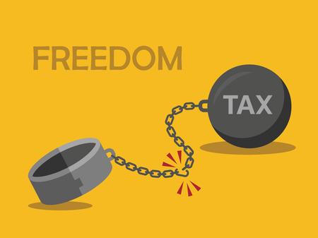 bondage: Businessman Tax Concept.