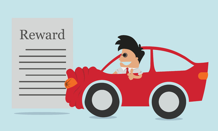 car insurance vector concept in flat style