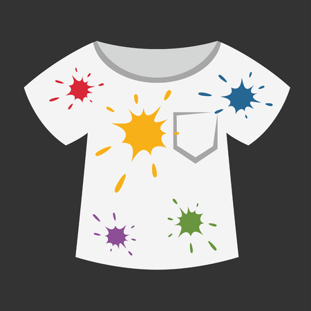Dirty color on white T-shirt