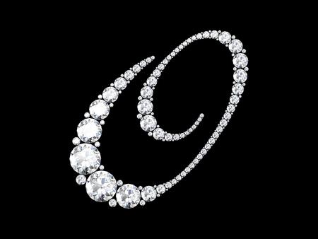 stunning: A stunning beautiful O set in diamonds. V6 Stock Photo