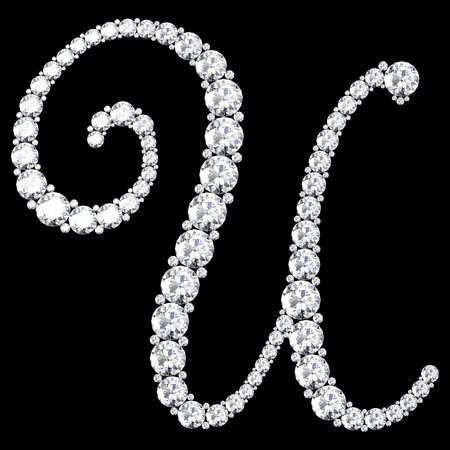 stunning: A stunning beautiful U set in diamonds. V.7