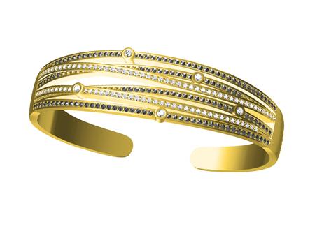 bride bangle: bracelets isolated on the white background Stock Photo
