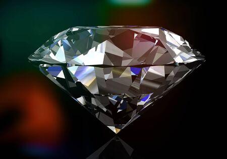 stetting: Diamond on black background Stock Photo