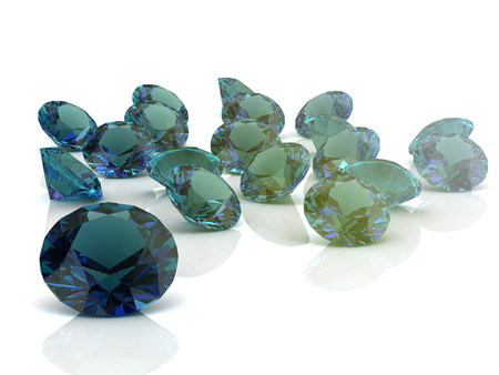 spinel: alexandrite on white background. High quality 3d render