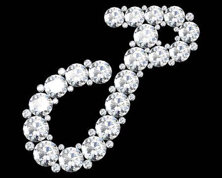 stunning: A stunning beautiful P set in diamonds Illustration
